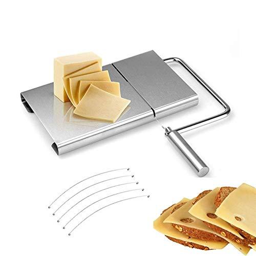 Queso ralladores Mantequilla cortador de queso de la rebanada de queso del corte del cuchillo 1pcs de corte de alambre máquina de cortar queso cortador de cocina de acero inoxidable Kit de fabricación