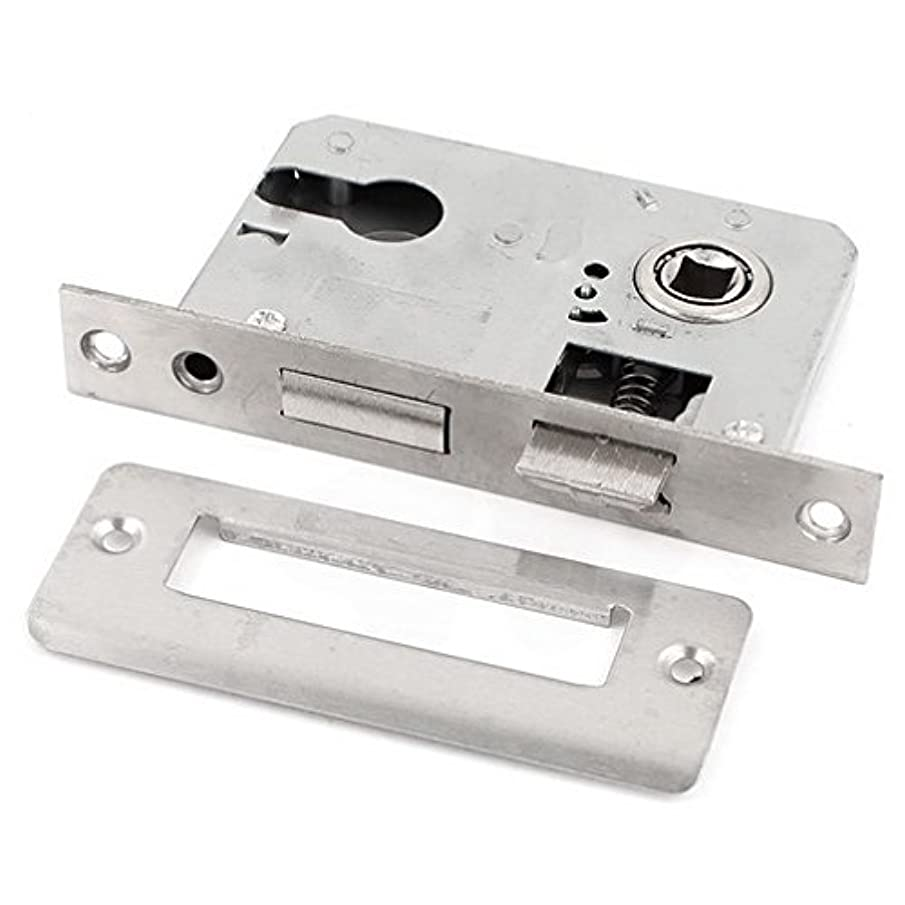 MariaP Latches Bolts Office Home Security Metal Door Locking Gate Latch Lock Silver Tone