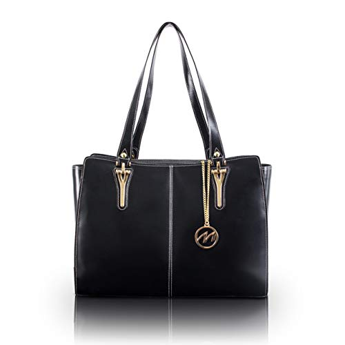 McKleinUSA GLENNA 97555 Black Leather Women's Business Tote