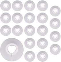 30pcs embellecedor radiador plástico para tuberías Cubiertas para tuberías de 16mm de diámetro cubierta de tubo de radiado...