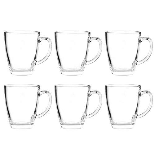 Unbekannt 6X Glastasse 350 ml/Tassen Set Glas Gläser 6er Teebecher Becher Teegläser