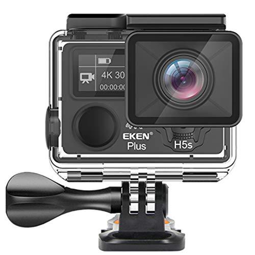 EKEN Action Camera H5s Plus 4K UHD EIS WiFi Touch Screen Subacquea + Remote Controller + Accessori