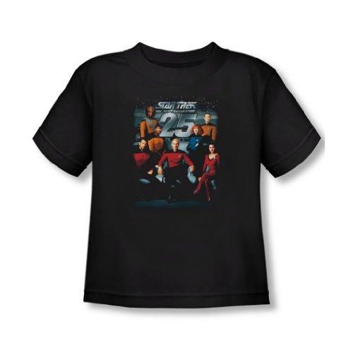 Star Trek - - Toddler T-Shirt 25th Anniversary Equipe de In Black, 2T, Black