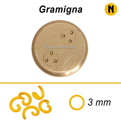 Trafila in bronzo per Pasta Gramigna per macchina pasta fresca professionale La Fattorina 1,5kg compatibile con FIMAR MPF 1,5