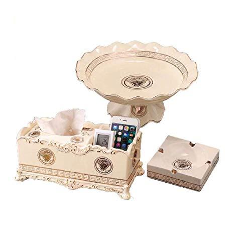 ZXL Caja de cigarros, humidor, Bandeja de Frutas de cerámica Europea,