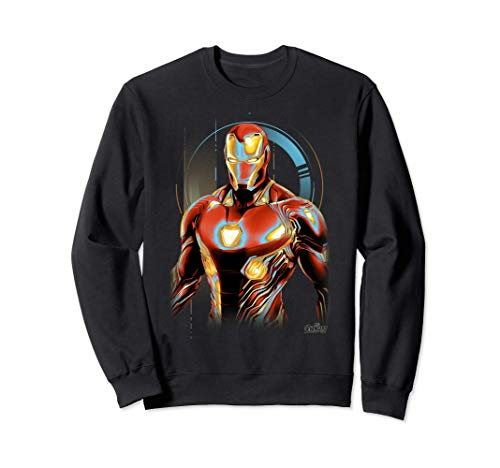 Marvel Infinity War Iron Man Digital Profile Pose Felpa