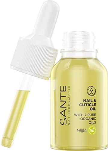SANTE Naturkosmetik Nail & Cuticle Oil, Nagelpflegeöl, Pflege für Nägel & Nagelhaut, Mit Bio-Ölen & Vitamin E, Vegan, 15 ml
