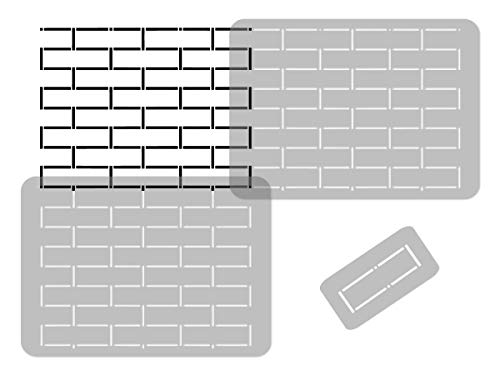 GEOMETRIC Reusable Plastic Wall Stencil // 25.5' x 37.4' // GRADIENT // Seamless Repetitive Allover Pattern Template