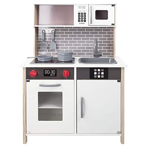 WOOMAX - Cocina de madera con accesorios, luz y sonido (ColorBaby 49026)