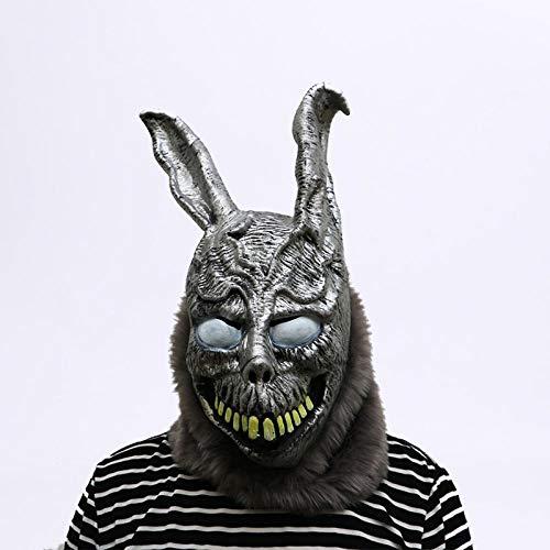 XWYWP Halloween Maske Tier Cartoon Kaninchen Maske Donnie Darko FRANK der Hase Kostüm Cosplay Halloween Party Maks liefert