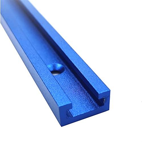 E E-NICES Tools T Schrauben-Befestigungsschlitz Aluminium-Holzbearbeitungs-T-Slot-Guttel-Titel Jig-Gleis-Haltestelle für Router-Tabelle Bandsägen DIY-Werkzeuge 300-800mm
