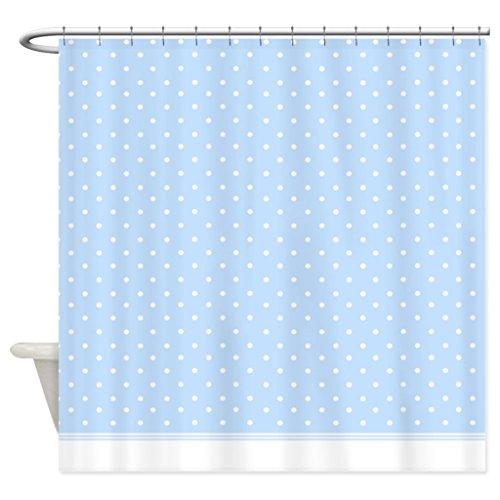 eikleom Baby Blue Polka Dot Duschvorhang 180x 180cm Wasserdichtes Polyester