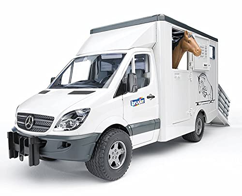 Bruder 2533 - Sprinter Transportador Mercedes-Benz com 1 Cavalo