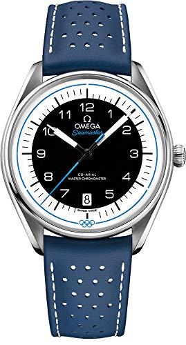 Omega Seamaster Olympic Timekeeper Reloj Automático de Cuero Azul Edición Limitada de los Hombres 522.32.40.20.01.001