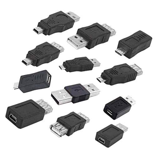 D DOLITY 12 Teile/Satz OTG USB 2.0 a männlich zu weiblich Micro USB Micro-b Mini-b Changer datenkonverter Adapter hohe qualität