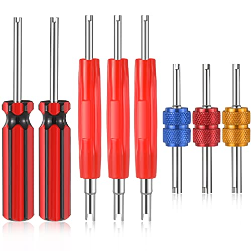 Frienda 8 Pieces Tire Valve Stem Removal Tool Single and Double Heads Valve Core Remover Tire Repair Install Tools for Cars Truck Motorcycle Bicycle