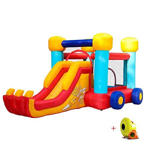 Zhihao Kind Kinder aufblasbare Hüpfburg mit Ventilator Aktivität Play Center Haus Jumper Water Slide Combo Garten im Freien Innen for Kinder Oxford Tuchmaterial Spielzeug