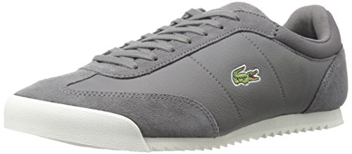Lacoste Men's Romeau 416 1 Spm Fashion Sneaker, Dark Grey, 11 M US