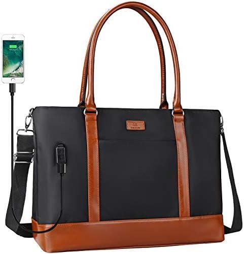 Woman Laptop Tote Bag USB Teacher Bag Large Work Bag Purse Fits 17 in Laptop product image