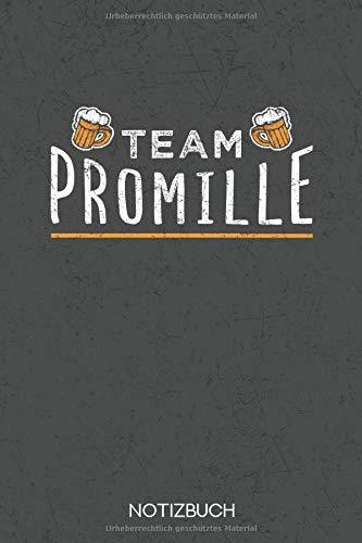 Team Promille: Bier Notizbuch für Bierfans im Format A5 mit 120 Karierten Seiten