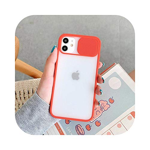 Carcasa para iPhone 12 Mini 11 12 Pro Max 8 7 6s Plus X XR XS Max SE 2 Color Candy Soft Back Cover - rojo para iPhone 12Pro Max