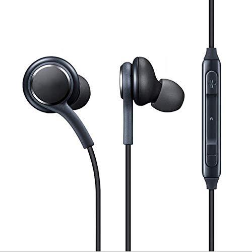 Easyeeasy Auriculares magnéticos de Metal Auriculares estéreo súper Bajos Auriculares Resistentes al Sudor con micrófono para teléfono móvil MP3 MP4