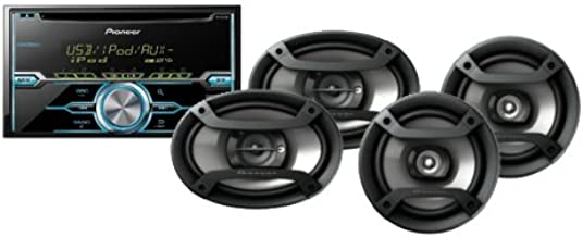 Pioneer FXT-X5269UI CD RECEIVER TWO 6 1/2 SPEAKERS AND 6X9 3 WAY SPEAKERS