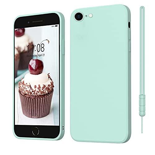 ORDA iPhone 8 Hülle, iPhone 7 Hülle, iPhone SE 2020 Hülle Silikon Hülle, Hanyhülle iPhone 8/7 Ultra Dünn mit Microfiber, Kratzfeste Hülle Schutzhülle Hülle für iPhone SE 2/iPhone 7/8 4.7'' Mint Grün