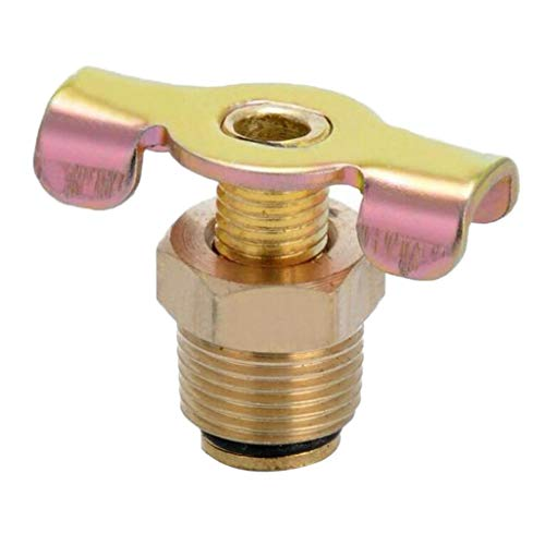 "Baosity NPT 3/8"" Solid Brass Drain Valve Compressor Air Tank Port Fittings Petcock Water Drain Valve Replacement Part"