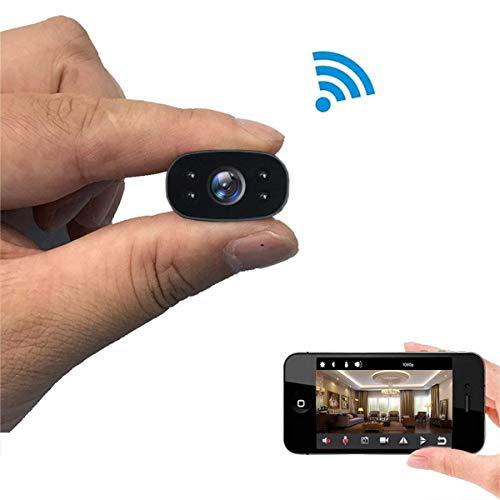 MYXMY Cámara espía Oculta WiFi Mini Seguridad Cámara inalámbrica con visión Nocturna 1080P HD visión Nocturna pequeña cámara WiFi inalámbrica monitorización remota cámara Web