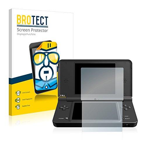 BROTECT Schutzfolie kompatibel mit Nintendo DSi XL (2 Stück) klare Displayschutz-Folie