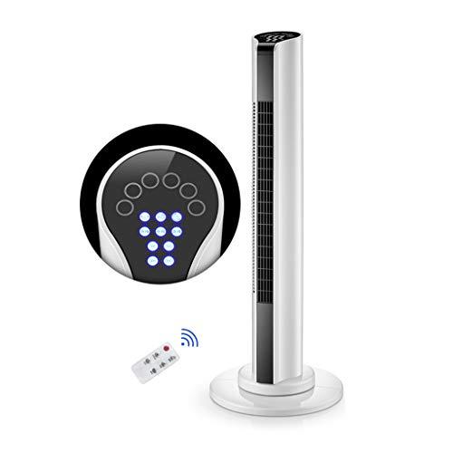 Silent Tower Elektrische Ventilator Met Afstandsbediening, 80 ° Draaibaar En 46cm Luchtuitlaat, 15H Timing Koelventilator, Bladloze Ventilator Met 3 Verstelbare, Wit