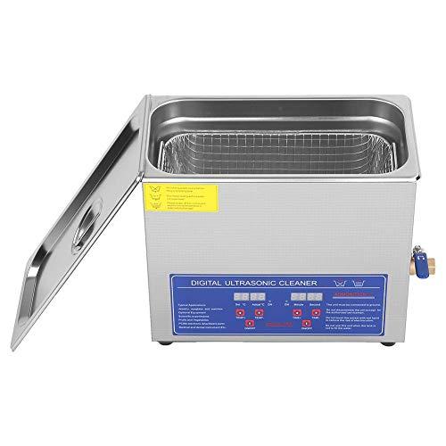 Wakects Limpiador ultrasónico de 6 litros, máquina de limpieza por ultrasonidos con pantalla digital de acero inoxidable, para joyas, gafas, monedas, relojes, herramientas domésticas, etc.