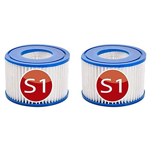 XIAOBUDIAN Cartucho de filtro tipo S1 para filtro de agua Intex S1 para filtro de hidromasaje S1 tipo S1, filtro de repuesto para piscina (2 unidades)