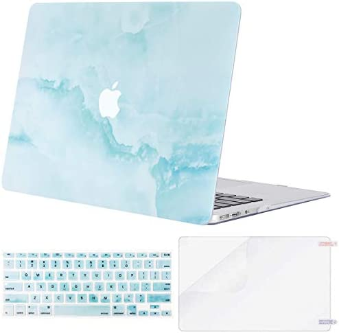 MOSISO Compatible with MacBook Air 11 inch Case Models A1370 A1465 Plastic Cloud Marble Hard product image