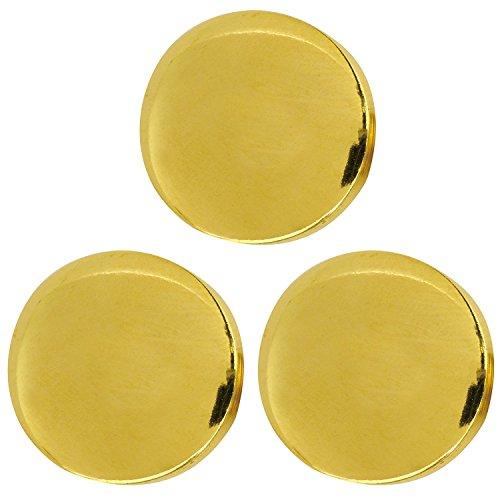 Hiromi House Japan Bouton métallique (ABS) 30 mm 3 pièces Or N ° d'inventaire 0087