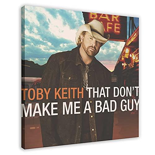 Couverture d'album Toby Keith That Don't Make Me A Bad Guy sur toile pour décoration murale de salon, chambre à coucher 50 x 50 cm