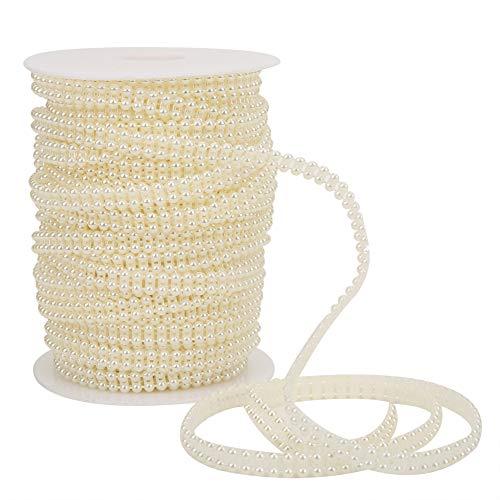Cuerda de cuentas de perlas, doble fila, decoración de boda, hermosas cuentas...