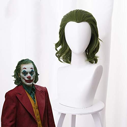 RULER COSPLAY Joker joker origin Arthur Flake mixed green curly hair cos peluca