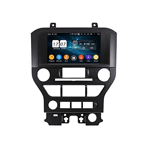 ZWNAV 2 DIN Carplay para Ford Mustang 2015-2020 Reproductor Multimedia Android Pantalla Coche en el Tablero Video Audio Radio Receptor Navegación GPS Unidad Principal Estéreo automático (4G 64G DSP)