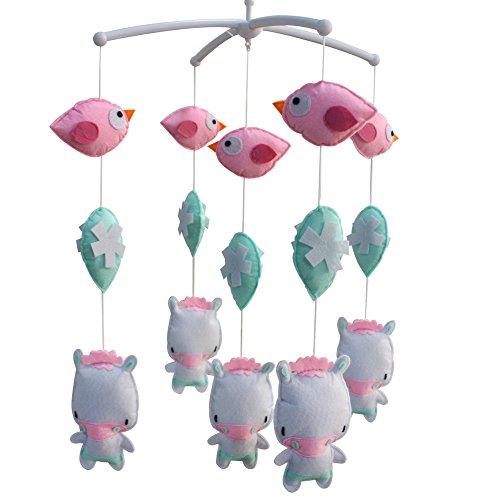 Berceau de lit de bébé rotatif coloré jouets de bébé [Vache blanche]