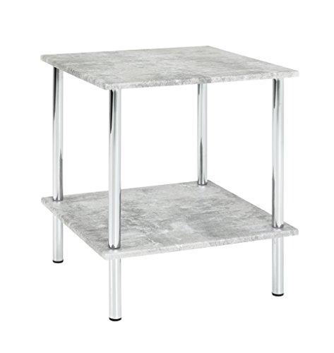 Haku Möbel 15666 bijzettafel, staal, beton, 39 x 39 x 45 cm