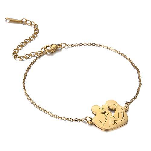 Kaijia Collar con colgante de cadena de acero inoxidable para el día de la madre y el día de la mujer