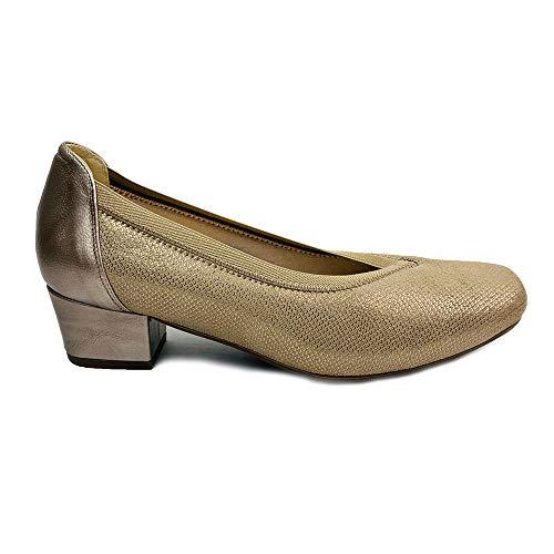 DOCTOR CUTILLAS,81212 Zapato DE Salon Licra Especial Ancho (Beige, Numeric_37)