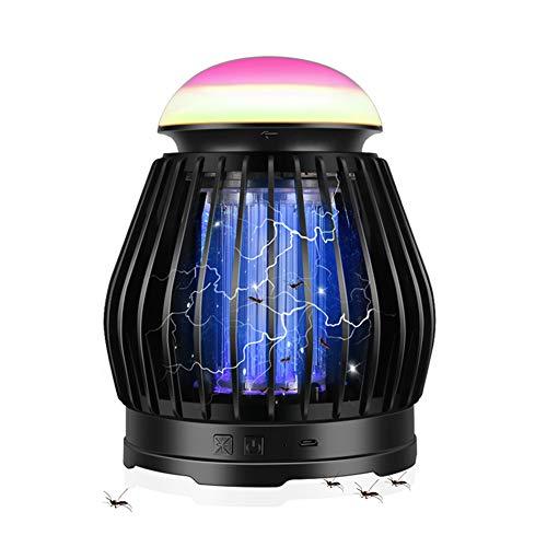 Lámpara Antimosquitos-Lámpara de Mosquito Trampa UV Portátil 3 en 1,USB Recargable de Acampada Multifuncional para Patio,Jardín,Interior,Fácil de limpiar, Mata Mosquitos/Cucarachas(No Tóxico,Seguro)