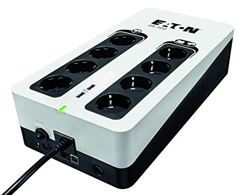 Eaton 3S 700 DIN - 3S700D - Unterbrechungsfreie Stromversorgung (USV) 700 VA mit Überspannungsschutz (8 DIN Ausgänge)
