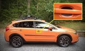 Fits Subaru Auto Accessory Door Handle Trim Molding Scratch Cover Guards Carbon Fiber 4 Door Pack