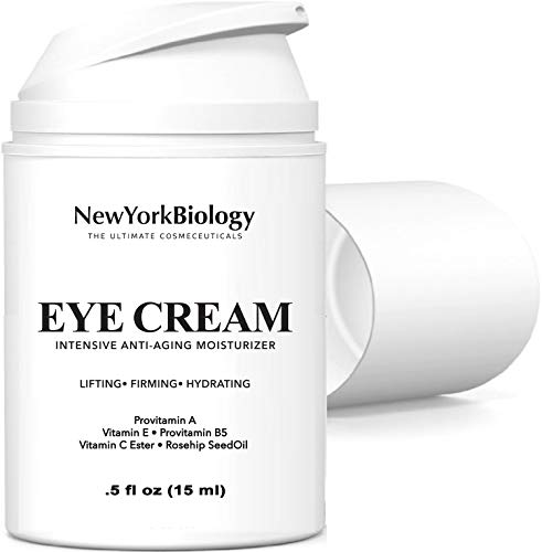 Eye Cream Moisturizer for Dark Circles, Fine Lines, Puffiness and Wrinkles Under the Eyes – Intensive Anti Aging Formula with Provitamin A and B5, Vitamin C and E – 0.5 fl oz (15ml)