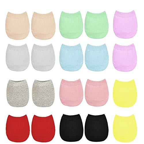 ANDERK 10 Paare Halbe Socken Damen Unsichtbare Rutschfeste Sneaker Socken, 10 Farbe