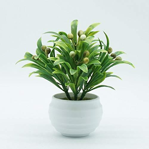 BRTTHYE kunstmatige plant bessen in pot Bonsai woonkamer tuin kantoormeubilair decoratie met vijver